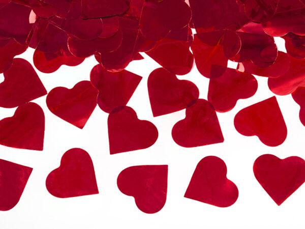 PartyDeco Svatební konfety ve tvaru srdíček