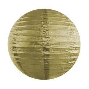 Partydeco Kulatý papírový lampion - zlatý 25 cm