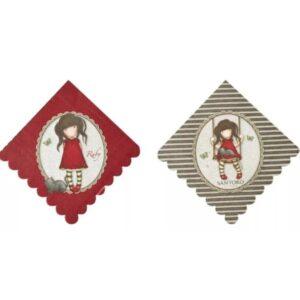 UBROUSKY papírové Santoro Ruby 33x33cm 8ks