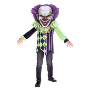 Amscan Dětský kostým - Strašidelný klaun s velkou hlavou Velikost - děti: 10 - 12 let
